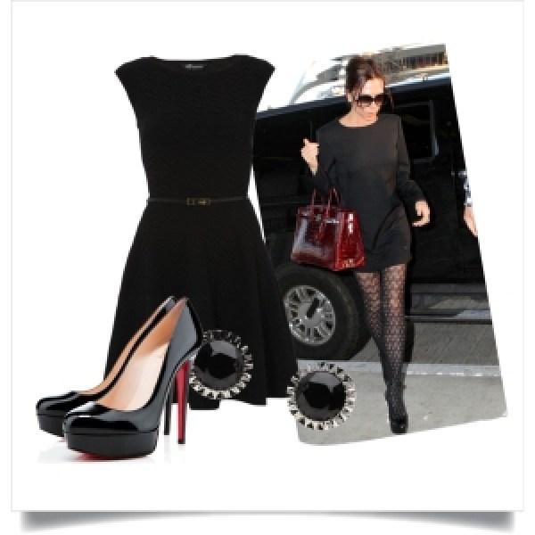 Little Black Dress & Textured Tights