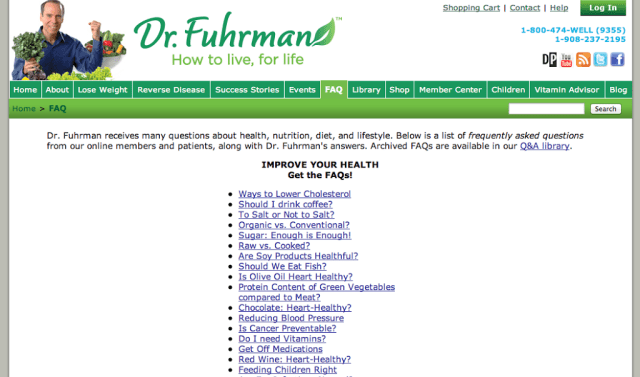 Dr. Fuhrman's Website