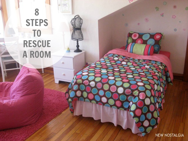 8 steps to rescue a room