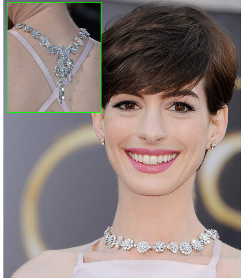 Anne Hathaway Necklace Oscars 2102