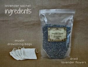 Lavender sachet ingredients