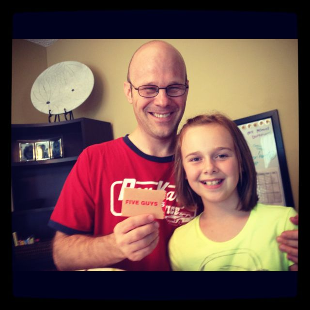 Todd Bowman and daughter