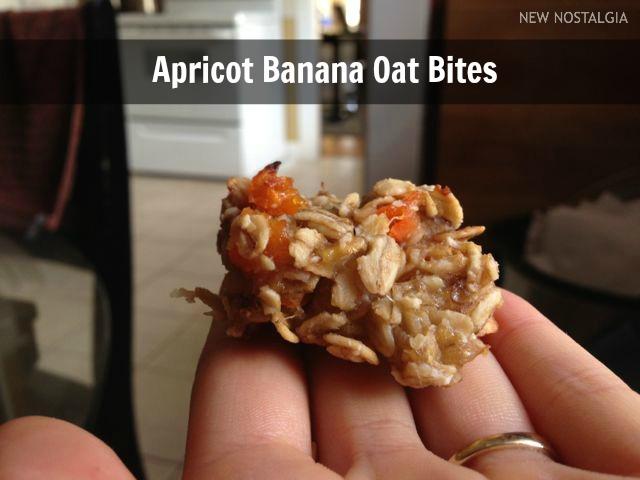 Apricot banana oat bites