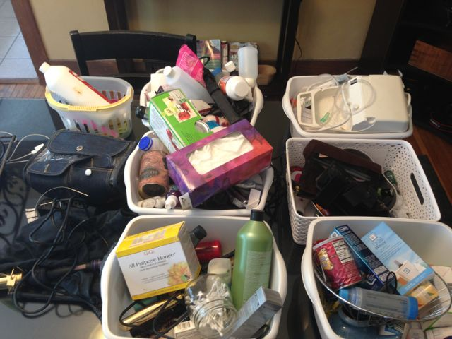 Getting rid of clutter in the house
