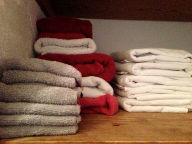 Organizing towels