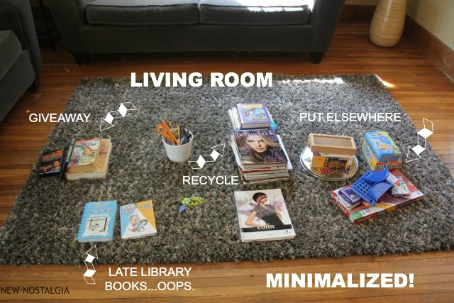 Clutter in living room
