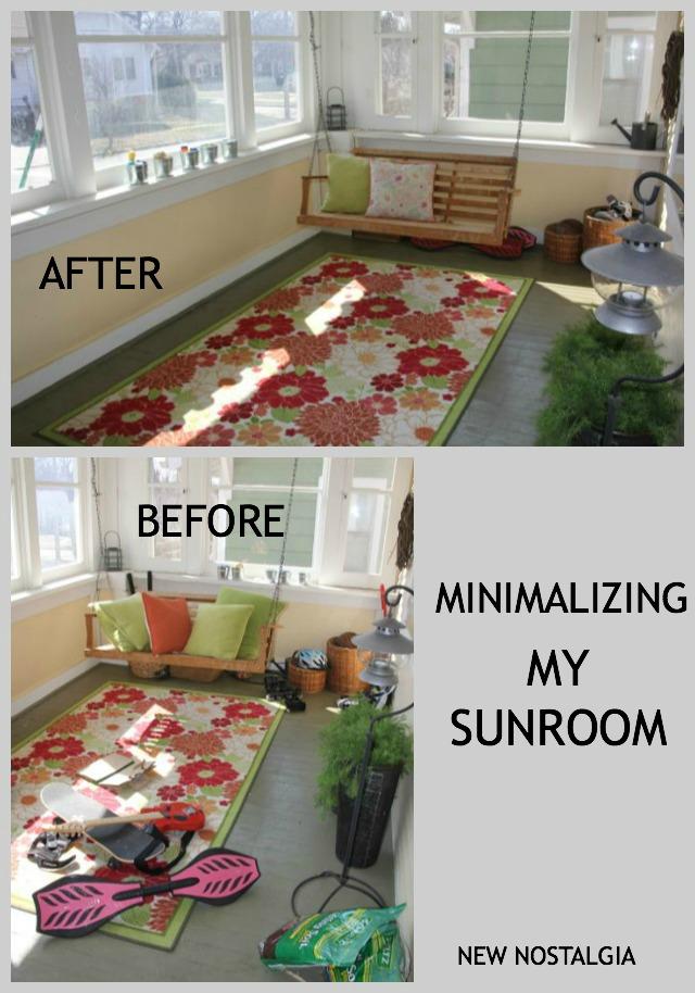 Minimalizing a sunroom