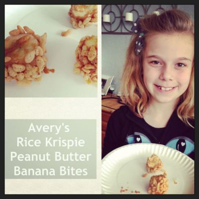 Rice Krispie peanut butter banana bites