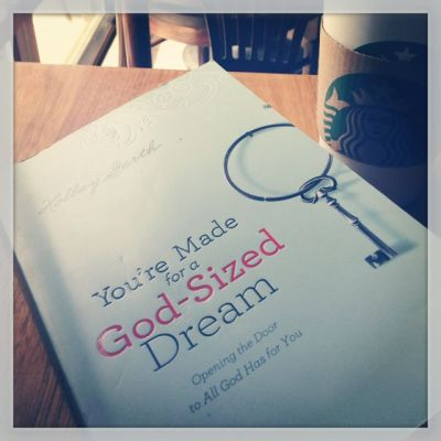 You are made for a God sized dream book