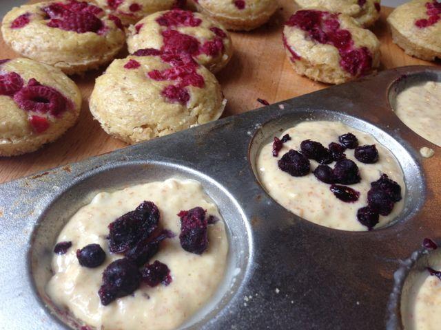 Berry Pancake Bites