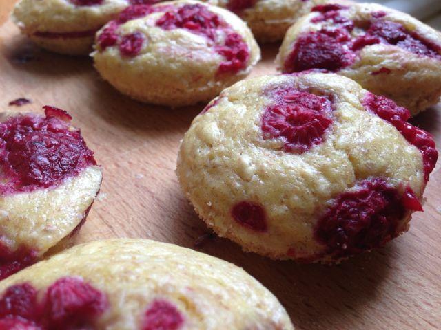 Raspberry Pancake Bites