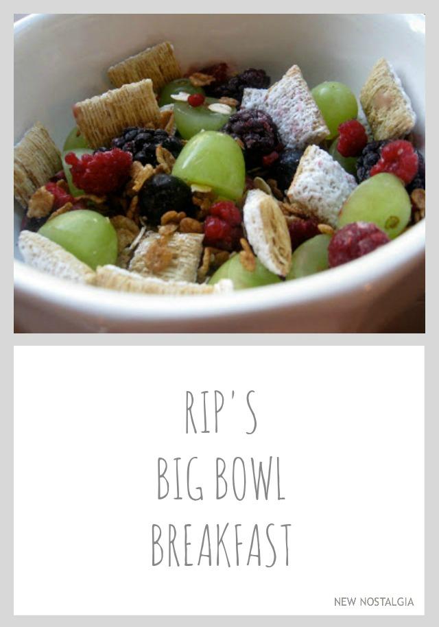 Big bowl breakfast