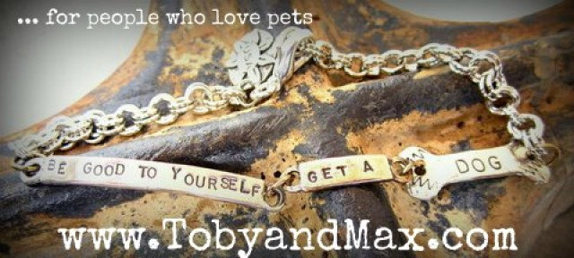 Toby and max pewter and bronze link bracelet