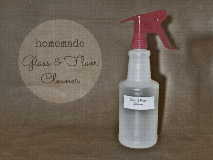 homemade glass and floor cleaner