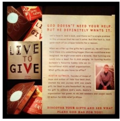 Live to Give article