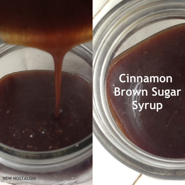 Cinnamon brown sugar syrup