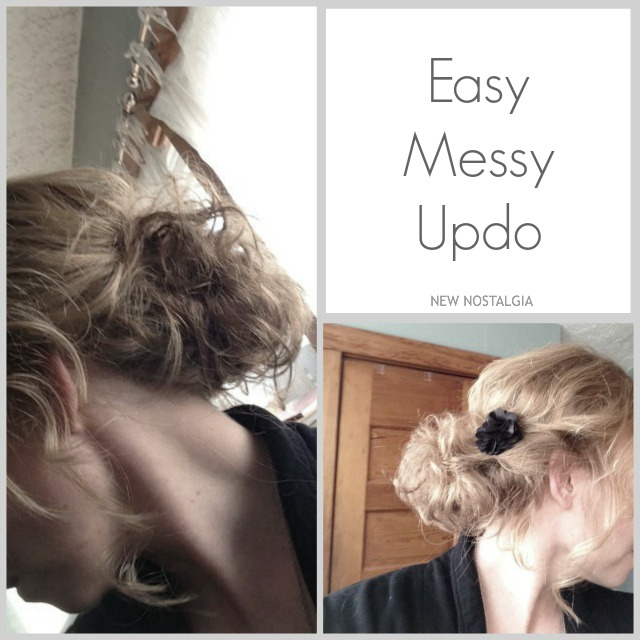 Easy messy updo