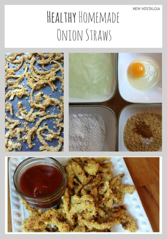Ingredients for healthy homemade baked onion straws