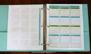 Dates to Remember planner page