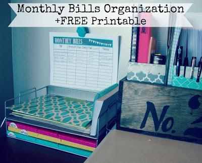 Monthly Bills Organizaation