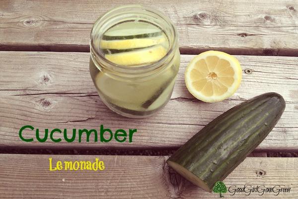 Cucumber lemonade in mason jar