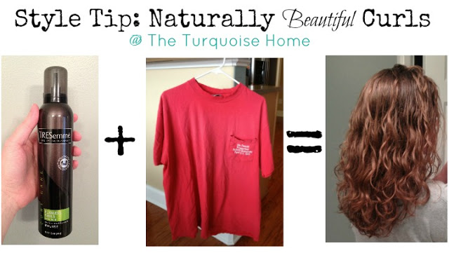 Tips for natural curls using hairspray and a t shirt