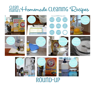 Collage of Homemade Cleaning Recipes