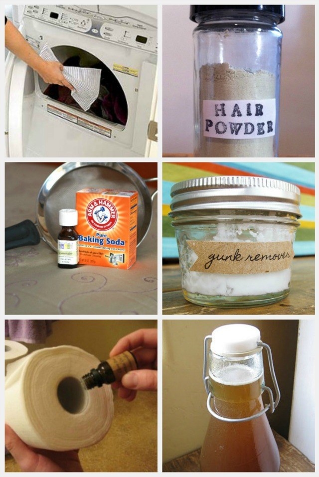 6-12 homemade cleaning products, cough syrup, gunk remover