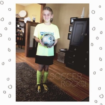 daughter and her soccer ball