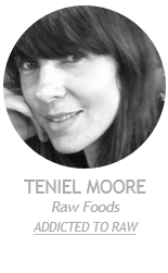 Teniel Moore writer of Raw Foods