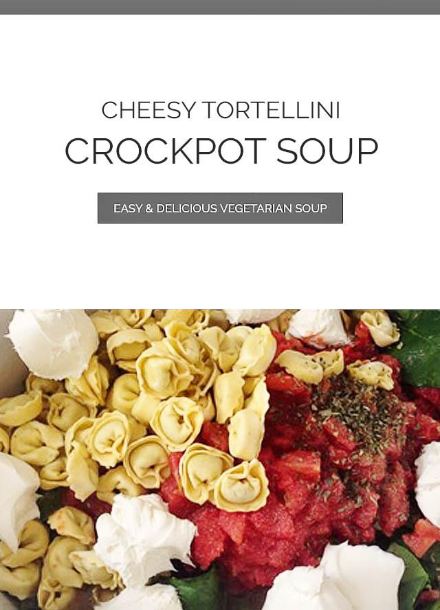 Cheesy Tortellini Crockpot Soup Ingredients