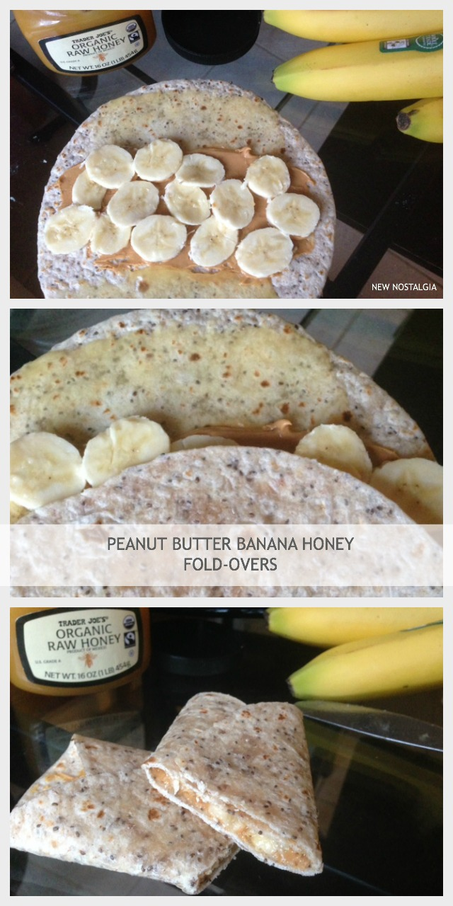 PEANUT BUTTER BANANA FOLDOVERS COLLAGE