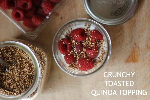 QUINOA TOPPING RASBERRY YOGURT