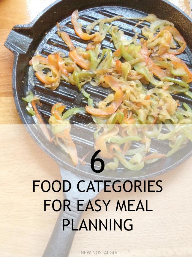 6 food categories for easy meal planning forumfinder Images