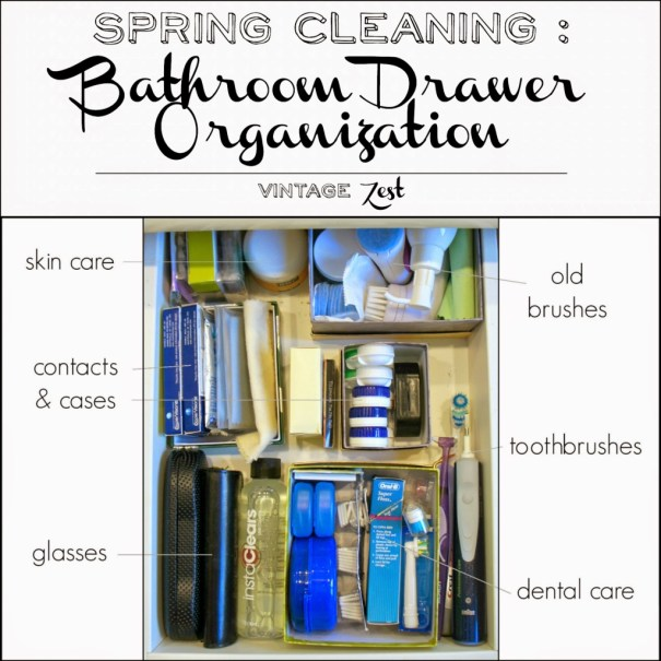 Spring Cleaning - Bathroom Drawer Organization 1