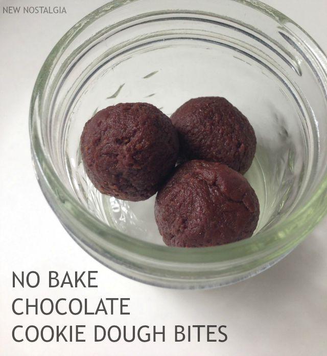 No Bake Chocolate Cookie Dough Bites