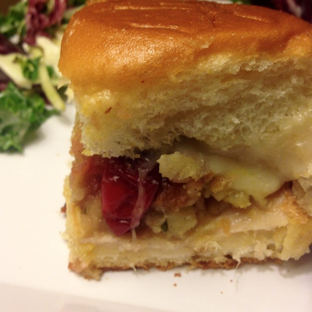 turkey cranberry stuffing sliders