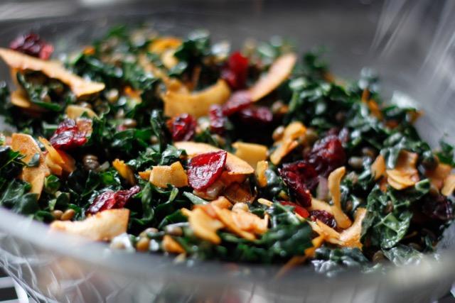 Lentil Kale Salad