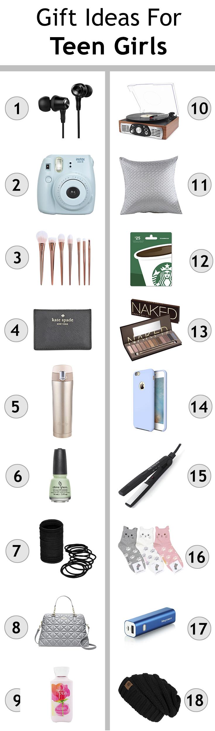 Top ten gifts for teen girls