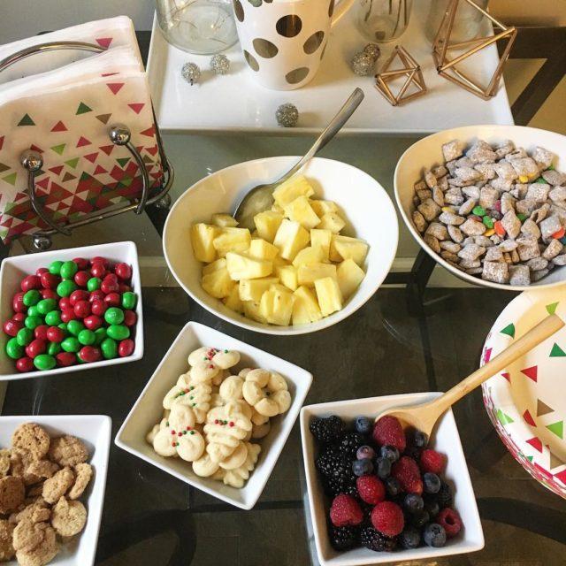 snacks in white dishes