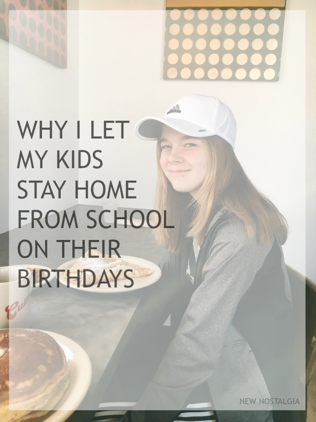 kid stay home on their birthday