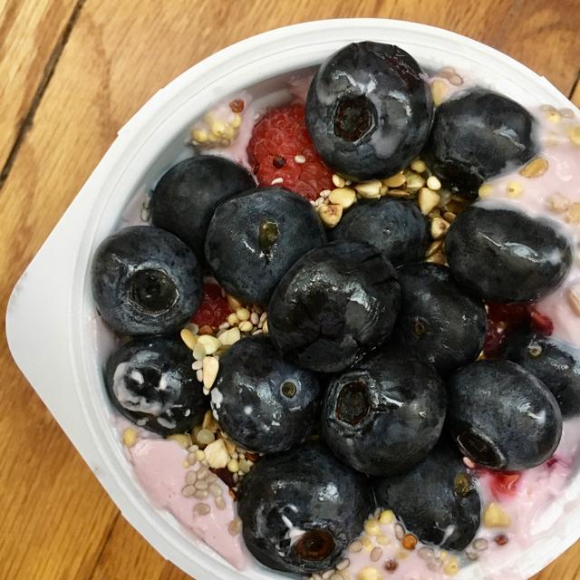 Smushed Berry Yogurt Cup Easy To Go Breakfast