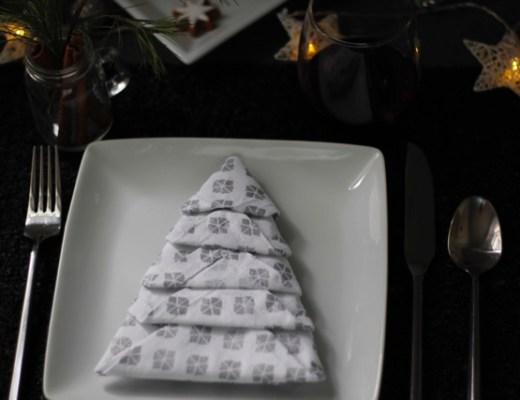 How To Fold Napkins Into Christmas Trees