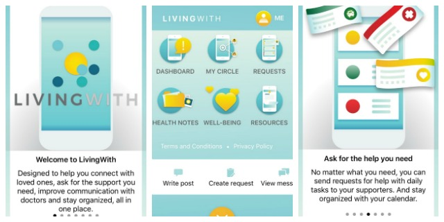 Living with cancer app