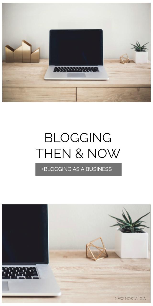 Blogging Then & Now Plus: Blogging As A Business