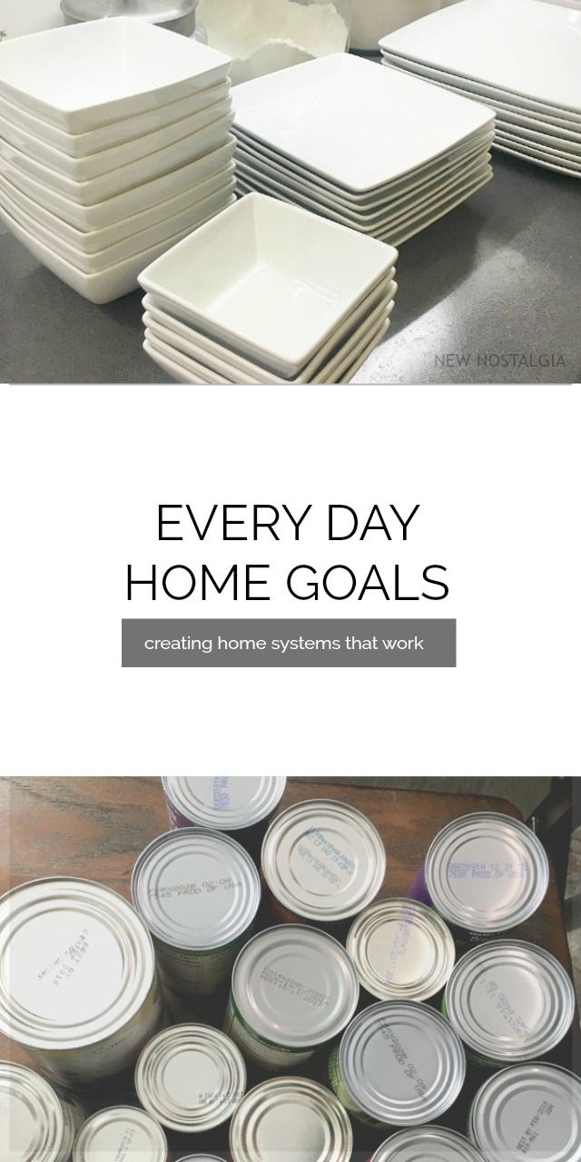 Everyday Home Goals - creating home systems that work