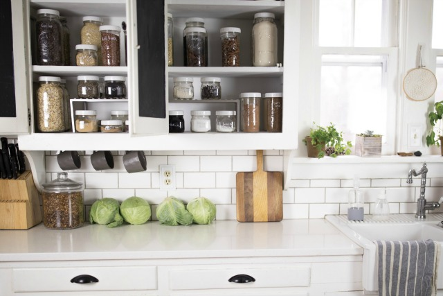 Pantry Goals -Organizing with mason jars