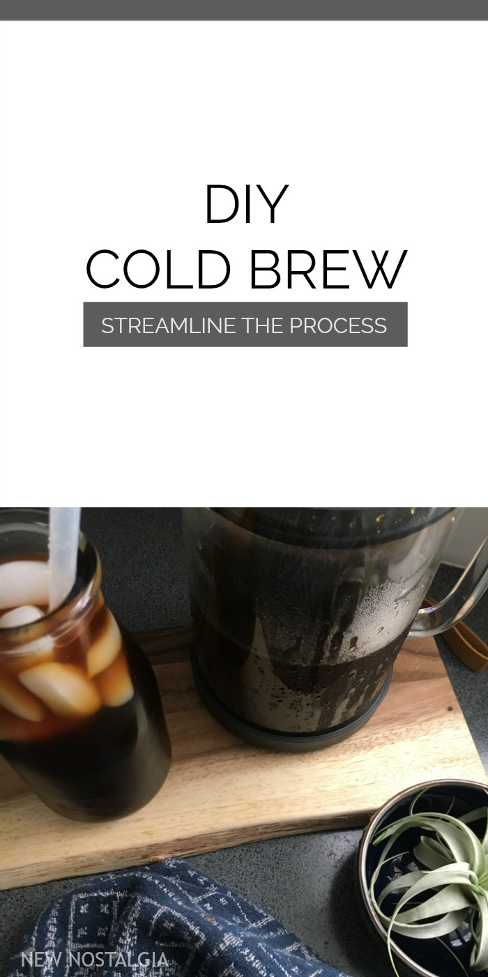 Cold Brew Pitcher and Iced Coffee with a straw