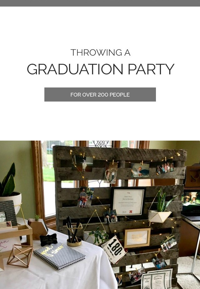 Graduation Party Table Decor