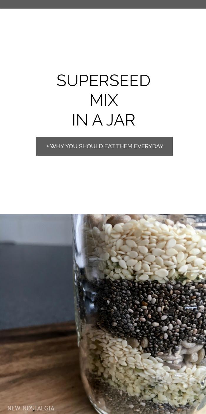 Jar of layered seeds